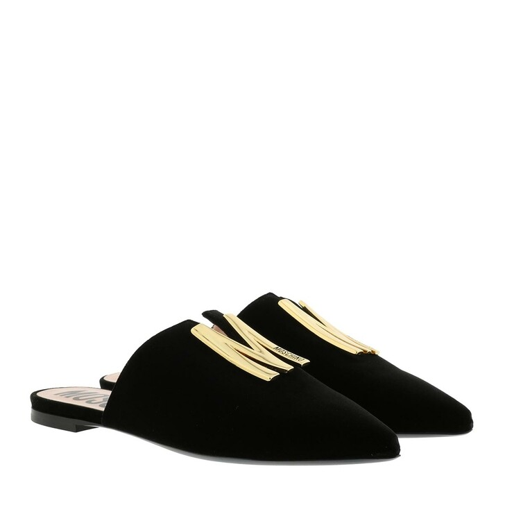 Schuh, Moschino, Mules Leather Black