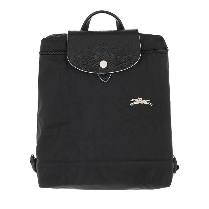 bags, Longchamp, Le Pliage Club Backpack  Black