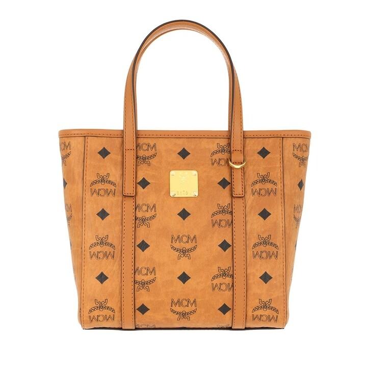 Handtasche, MCM, Toni Visetos Shopper Mini   Cognac