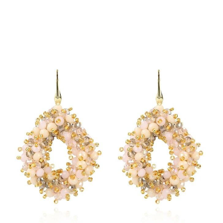 Ohrring, LOTT.gioielli, Glassberry ACE Double Stones L Champagne