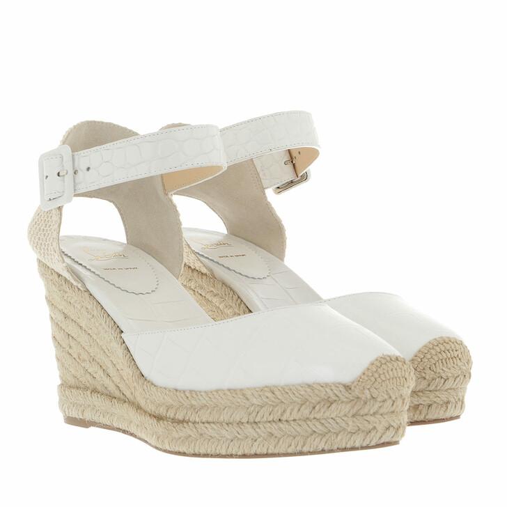 shoes, Christian Louboutin, Amelina Alta Espadrilles White