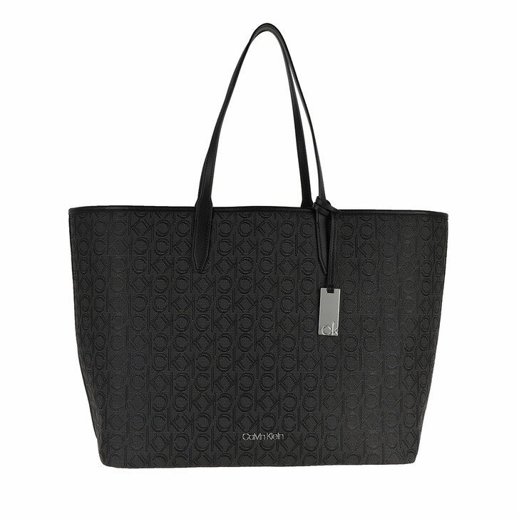 Handtasche, Calvin Klein, Shopping Bag with Laptop Pouch Black