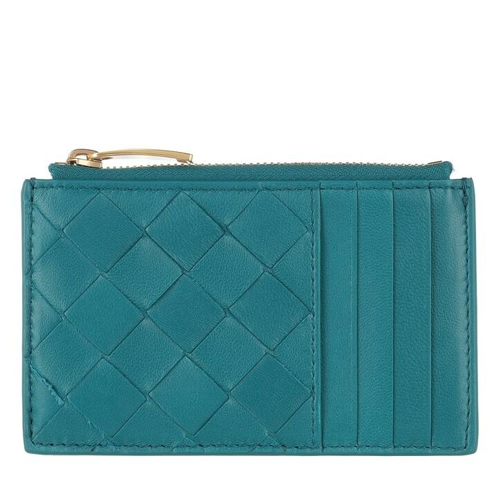 wallets, Bottega Veneta, Card Holder Wallet Mallard Gold