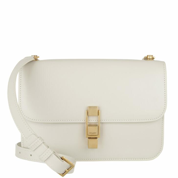 bags, Saint Laurent, Le Carre Crossbody Leather Blanc Vintage
