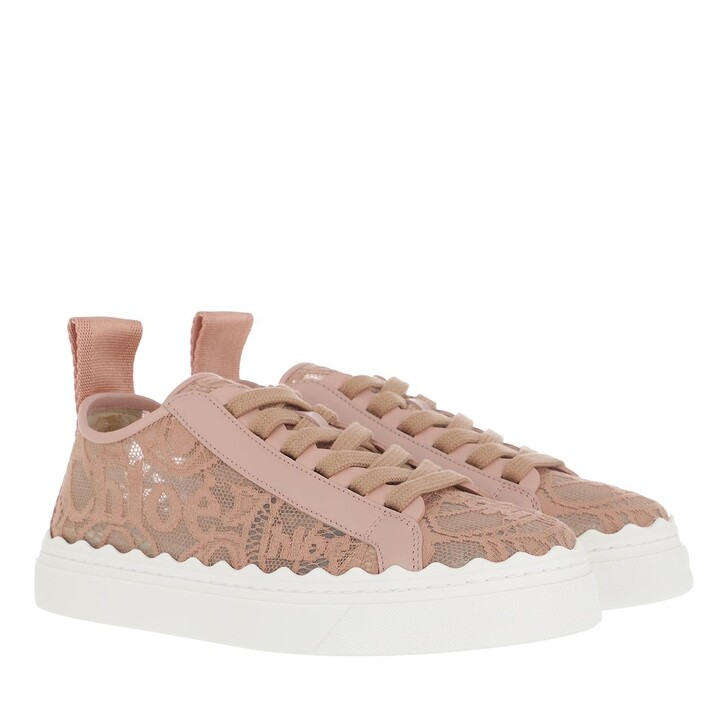 shoes, Chloé, Lace Sneakers Pinktea