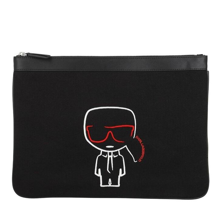 Handtasche, Karl Lagerfeld, K/Ikonik Canvas Pouch  Black
