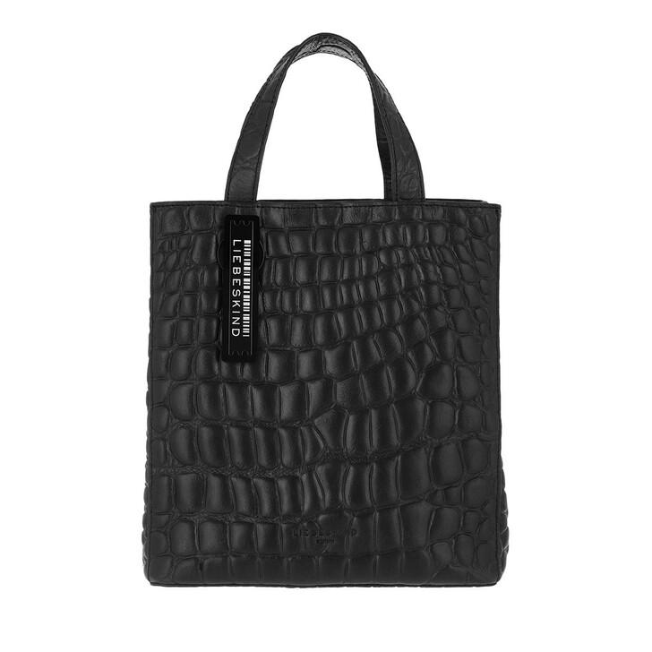 bags, Liebeskind Berlin, Croco Paperbs20 Black