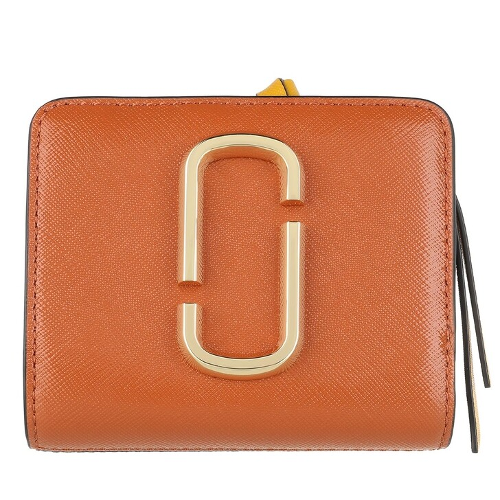 Geldbörse, Marc Jacobs, The Snapshot Mini Compact Wallet Saddle Brown