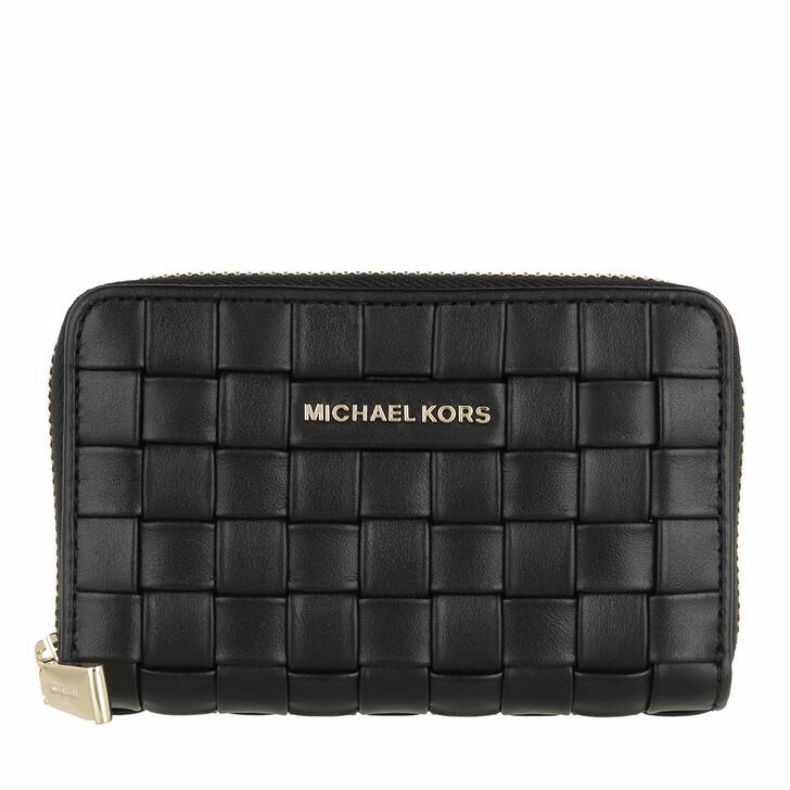 wallets, MICHAEL Michael Kors, Small Za Card Case Black