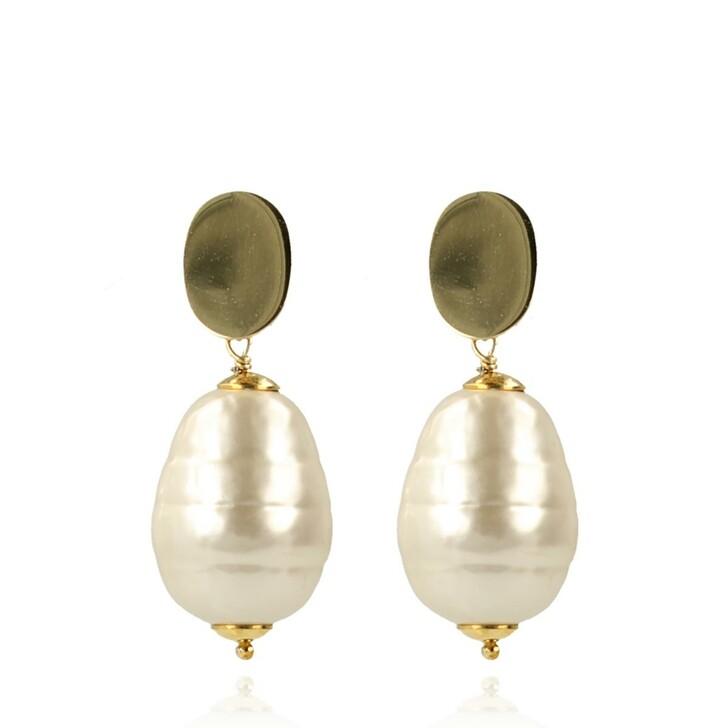 Ohrring, LOTT.gioielli, Quartz Pearl Earring Mother Earth L Pearl