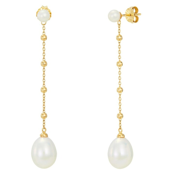 Ohrring, BELORO, Earring Pearls Yellow Gold