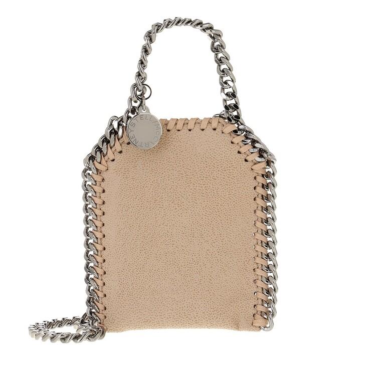 bags, Stella McCartney, Micro Bag Falabella Shaggy Dear Clotted Cream