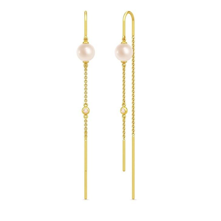 earrings, Julie Sandlau, Ariel Earrings Rose Pearl