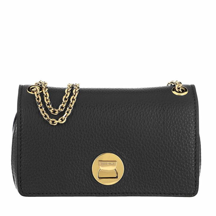 Handtasche, Coccinelle, Handbag Grainy Lea Noir/Noir