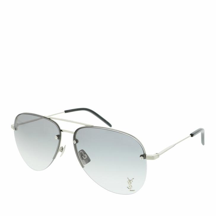 sunglasses, Saint Laurent, CLASSIC 11 M-005 59 Sunglass UNISEX META SILVER