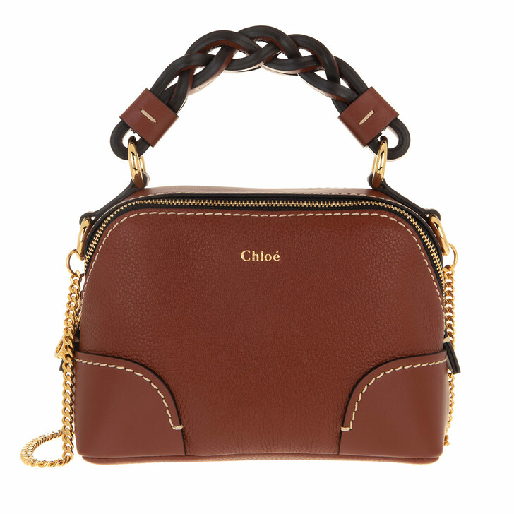 Handtasche, Chloé, Shoulder Bag Leather Sepia Brown