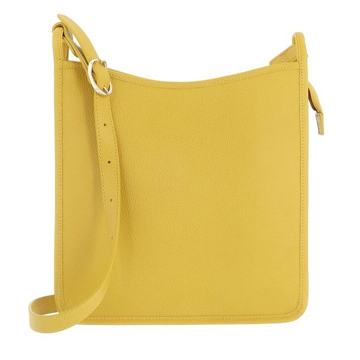 bags, Longchamp, Le Foulonné Crossbody Bag Mimosa Yellow