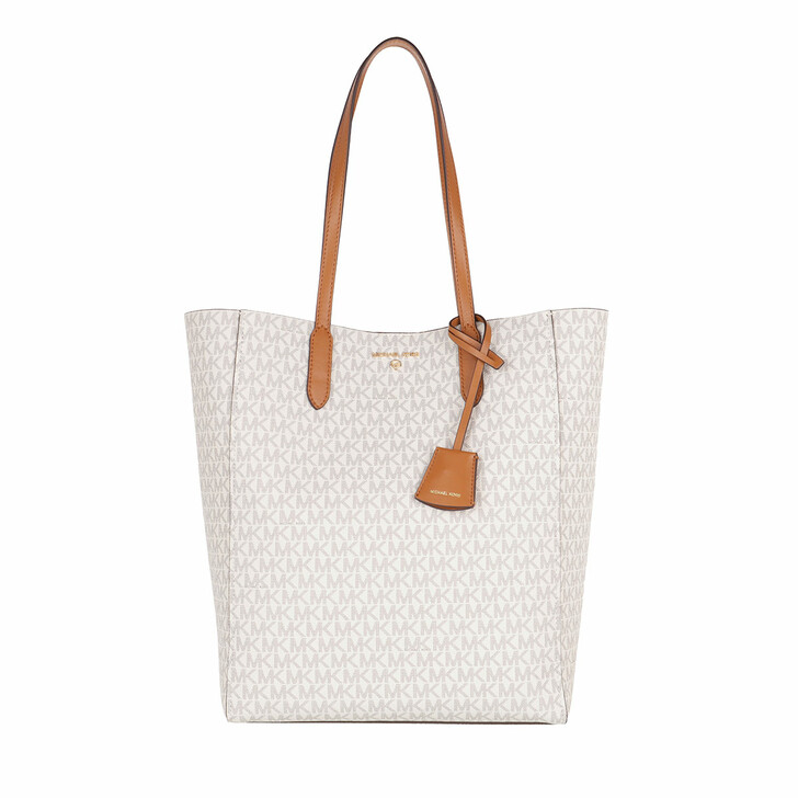 bags, MICHAEL Michael Kors, Sinclair Large Ns Shopper Tote Vanilla/Acrn
