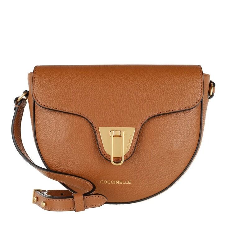 bags, Coccinelle, Beat Soft Mini Flap Crossbody Bag Caramel