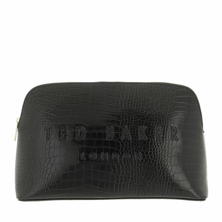 necessaires, Ted Baker, Crocana Croc Detail Debossed Washbag Black