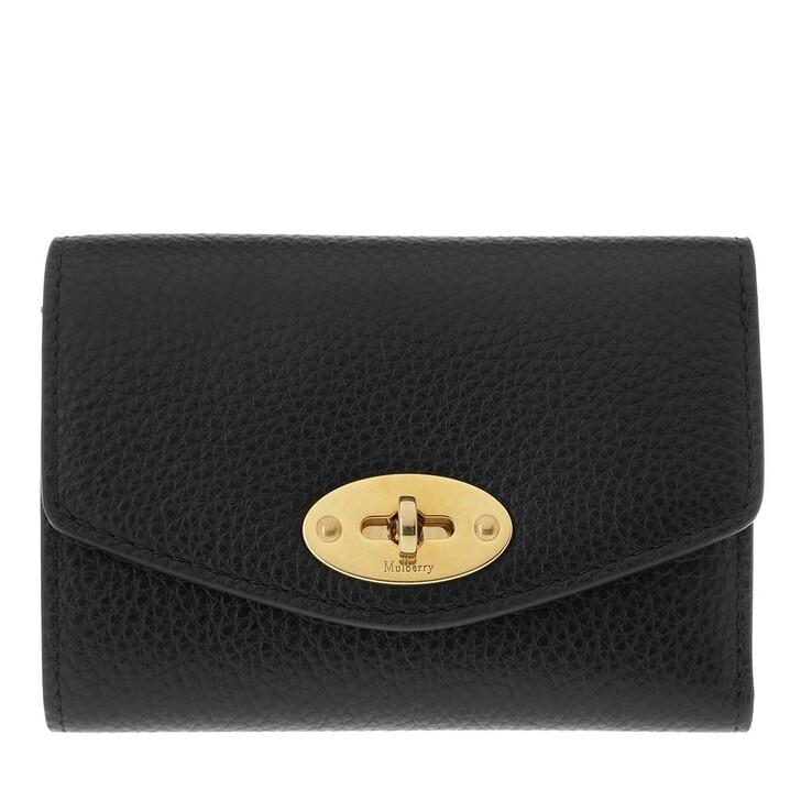 Geldbörse, Mulberry, Darley Continental Wallet Black
