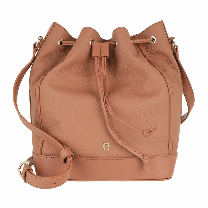 Handtasche, AIGNER, Adria Handle Bag Terra Brown