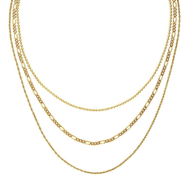 Kette, BELORO, Necklace Layering Multi Chain Gold-Plated