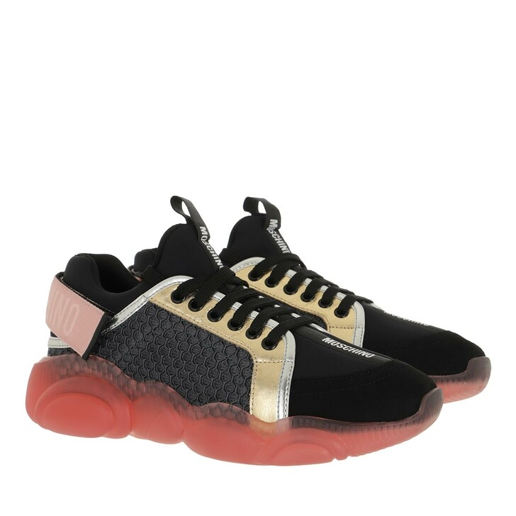 shoes, Moschino, Sneakerd Orso30 Mix Oroarg Nero
