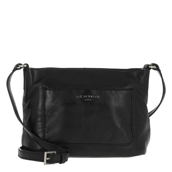 Handtasche, Liebeskind Berlin, Vegetable Vintage Crossbody Bag Black