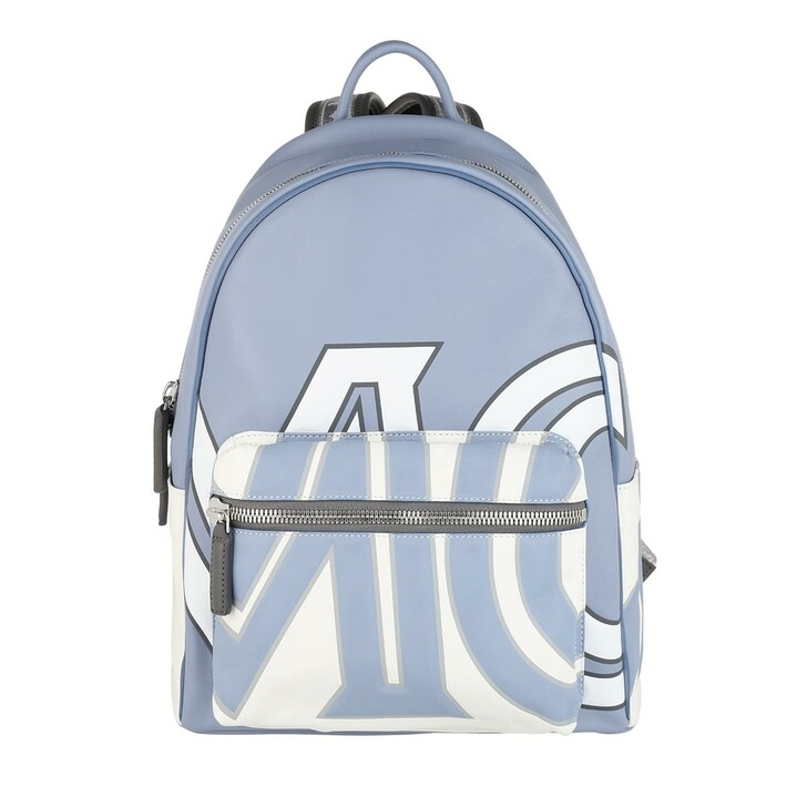 Reisetasche, MCM, Stark Logo Backpack Light Blue