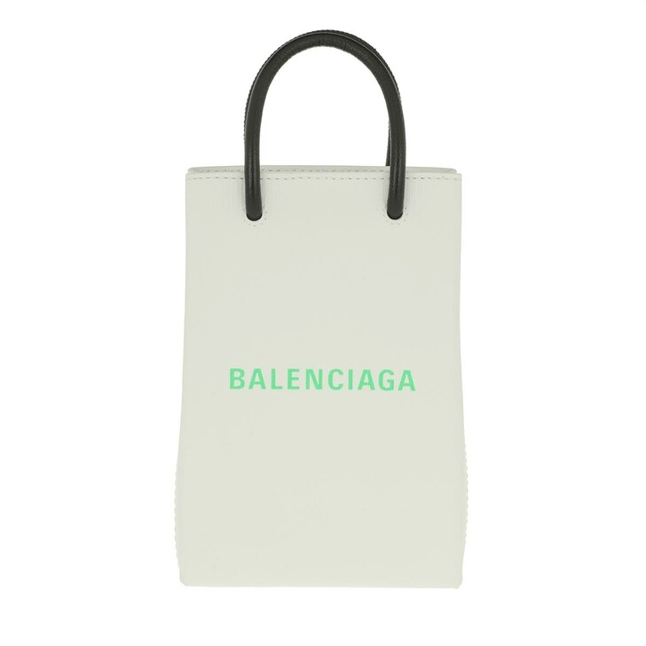 Smartphone/Tablet case (Case), Balenciaga, Phone Hold Strap Bag Leather White/Light Green