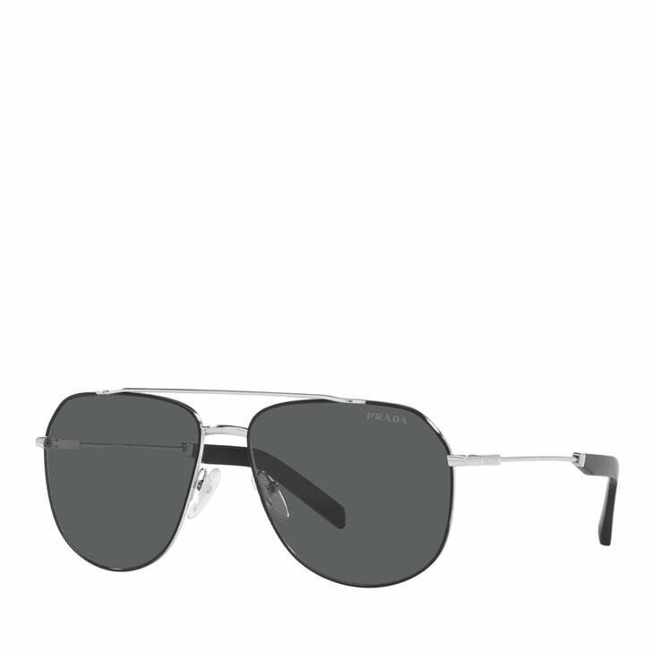 Sonnenbrille, Prada, 0PR 59WS SILVER/BLACK