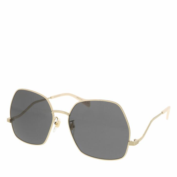 Sonnenbrille, Gucci, GG0972S-001 60 Sunglass WOMAN METAL GOLD
