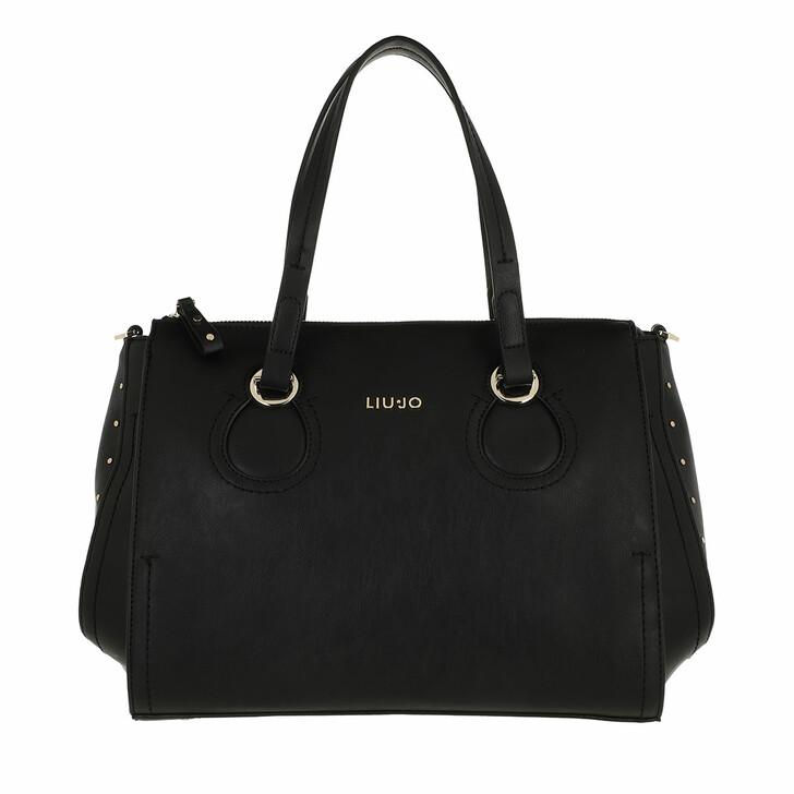 bags, LIU JO, Ecs M Satchel Black