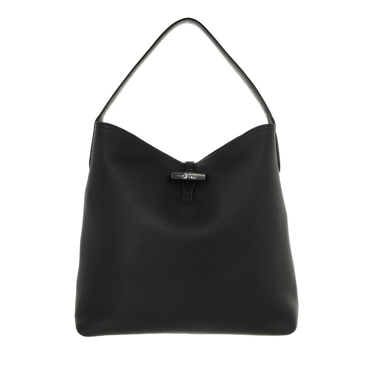 bags, Longchamp, Roseau Essential Shoulder Bag Black