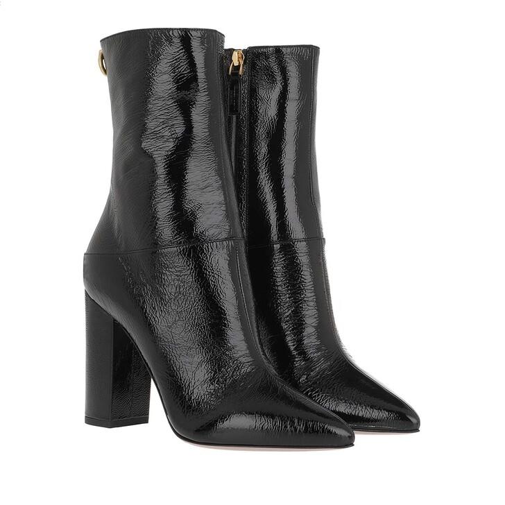 shoes, Valentino Garavani, Rockstud Naplak Boots Black