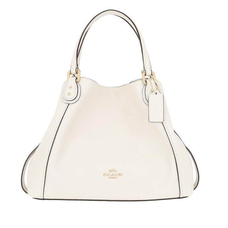 Handtasche, Coach, Pebble Edie Shopping Bag Chalk