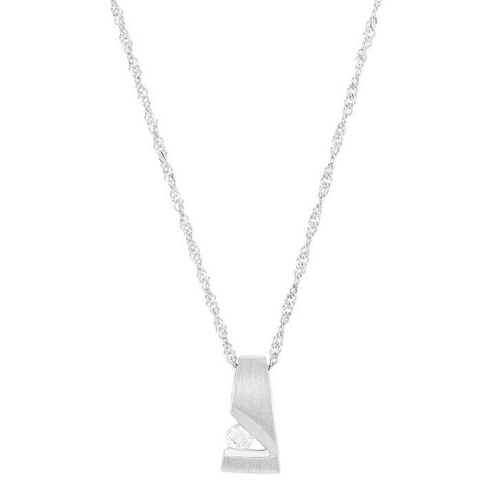 necklaces, VOLARE, Pendant with Necklace 1 Brill ca. 0,10 Platinum