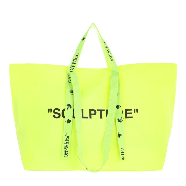 Handtasche, Off-White, Commercial Tote Bag Yellow Black