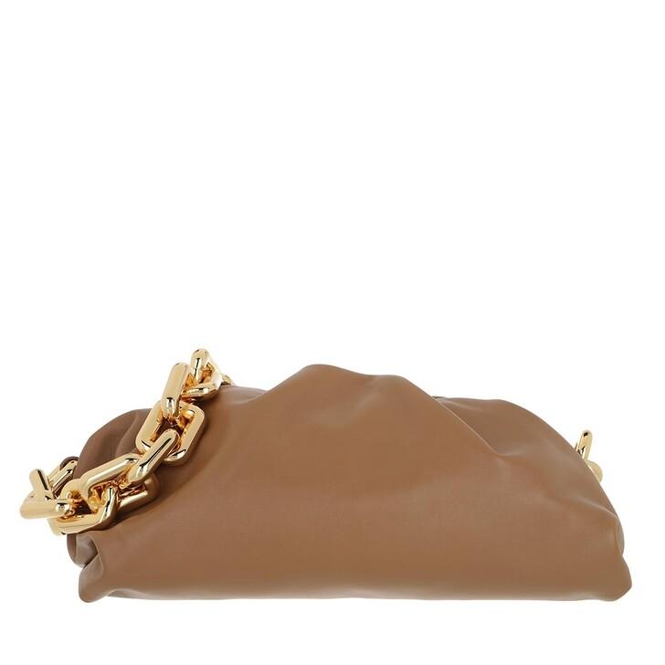 Handtasche, Bottega Veneta, The Chain Medium Pouch Leather Teak/Gold
