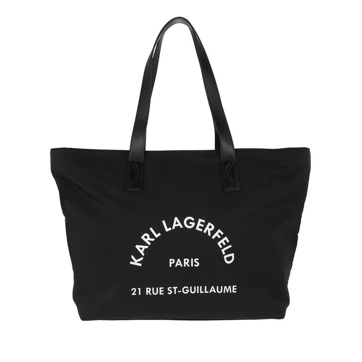 Handtasche, Karl Lagerfeld, Rue St Guillaume Nylon Tote Bag Black