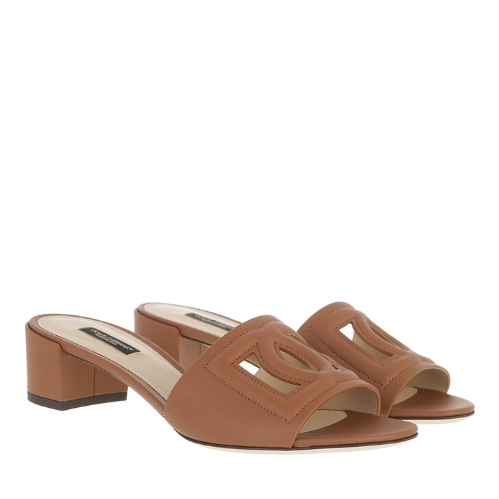 Schuh, Dolce&Gabbana, Crystal Mules Cuoio