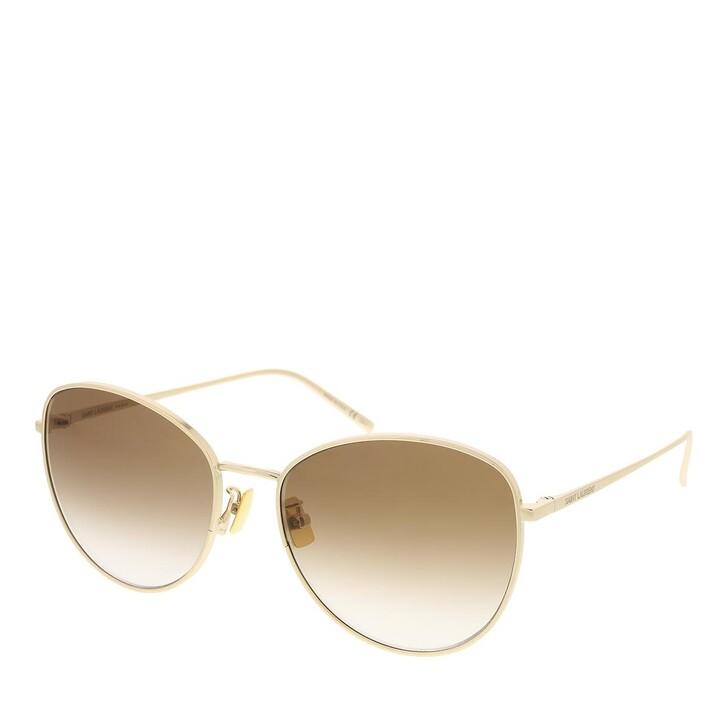 sunglasses, Saint Laurent, SL 486-003 57 Sunglass Woman Metal Gold-Gold-Brown