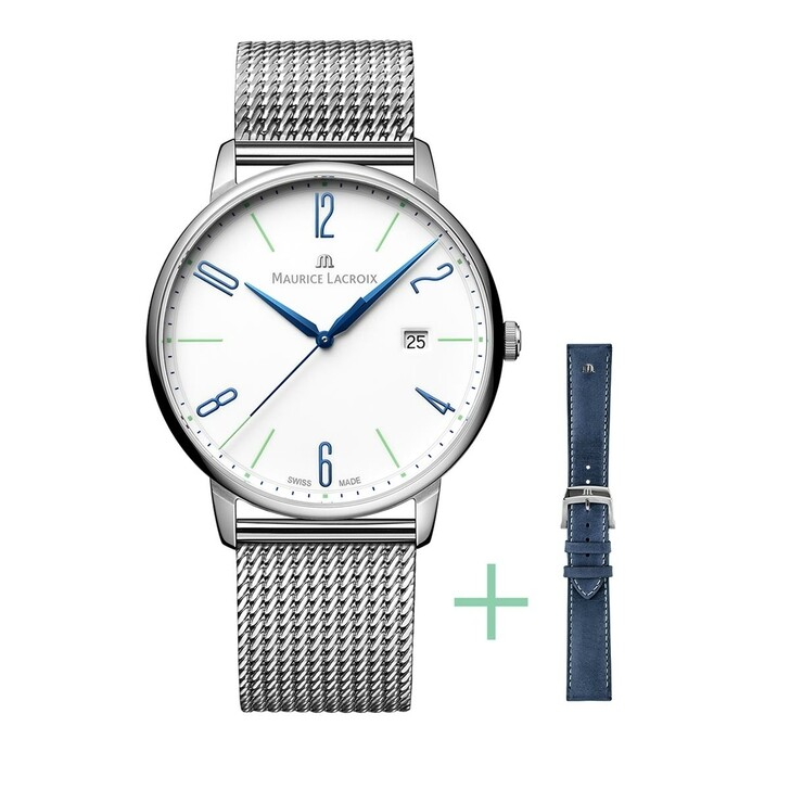 watches, Maurice Lacroix, Watch Eliros Strap-Promotion Blue and Silver
