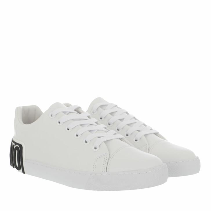 shoes, Moschino, Sneakerd Vulca25 Vitello  Bianco