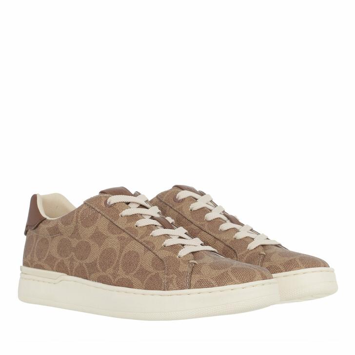 shoes, Coach, Lowline Coated Canva Tan