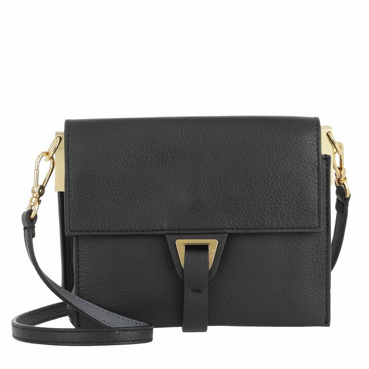 Handtasche, Coccinelle, Handbag Double Grainy Leather Noir/Ash Grey
