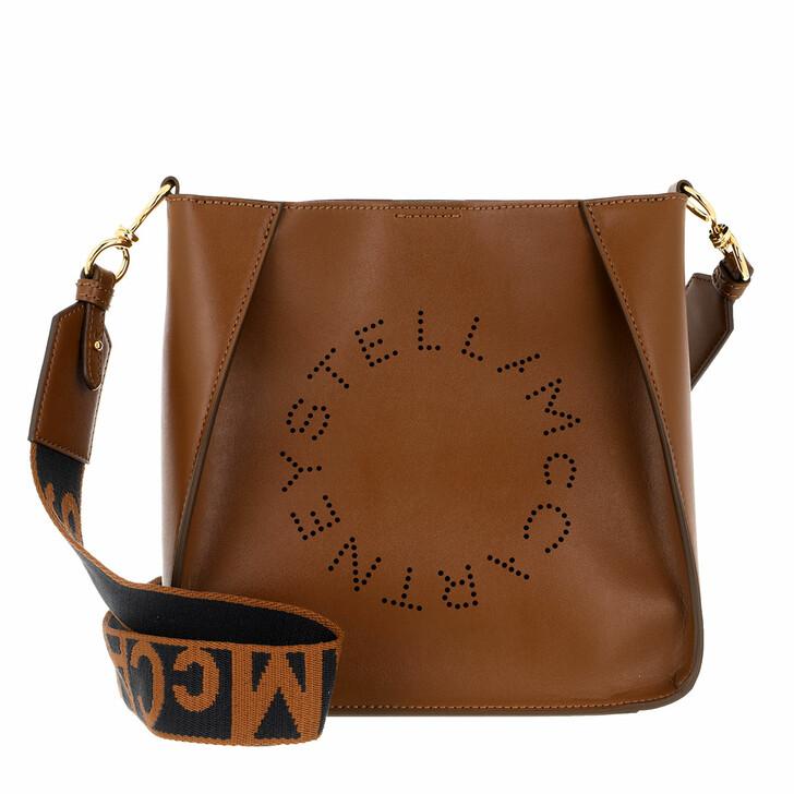 Handtasche, Stella McCartney, Logo Shoulder Bag Cinnamon