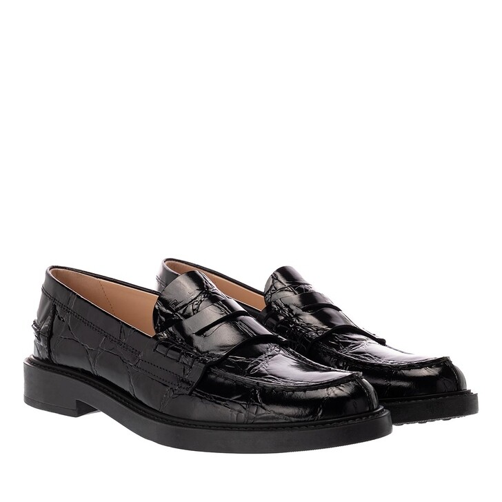 Schuh, Tod's, Loafers Patent Leather Black