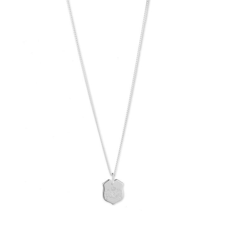 Kette, Lauren Ralph Lauren, Sterling Silver Shield Pendant Silver